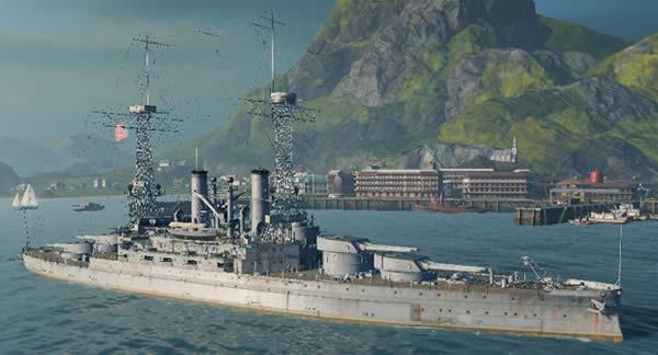 WoWS サウスカロライナ アメリカ Tier3 戦艦