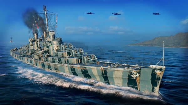 WoWS アトランタ Tier7 課金巡洋艦 迷彩