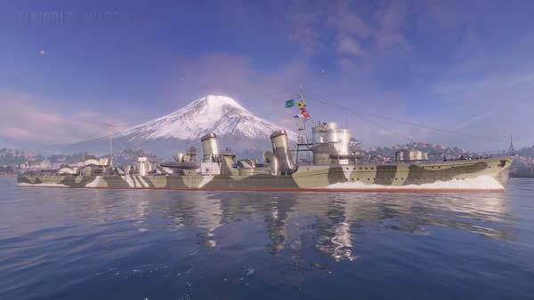 WoWS 迷彩 吹雪  Tier8 日本 駆逐艦