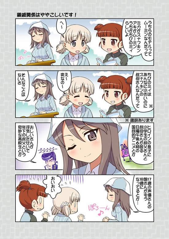 ガールズ&パンツァー 継続高校 漫画 ミカ アキ ミッコ ムーミン 親戚関係