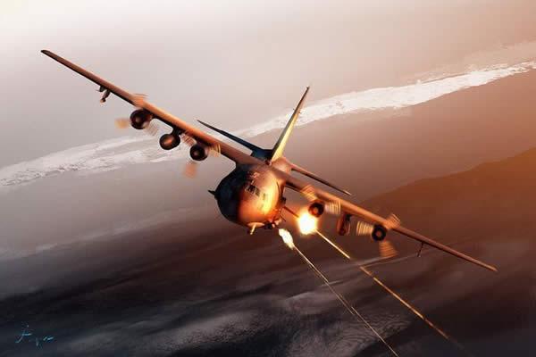 AC-130 砲撃