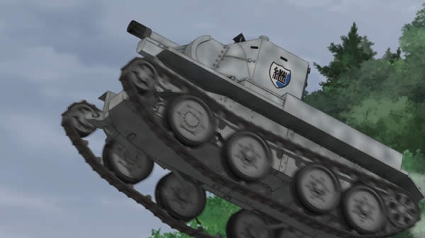 ガールズ&パンツァー 継続高校 BT-42 空中 ジャンプ