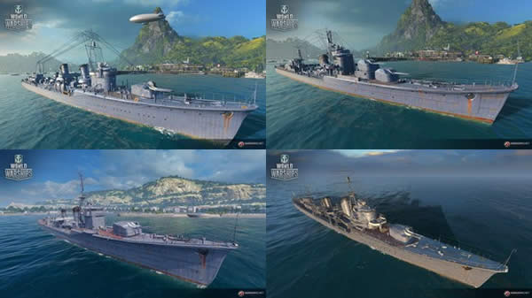 WoWS 新日本駆逐艦 追加 暁、秋月、白露、夕雲