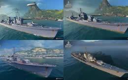 WoWS 新日本駆逐艦 追加 暁、秋月、白露、夕雲 サムネイル