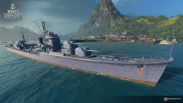 WoWS 秋月 日本 Tier8 駆逐艦 002