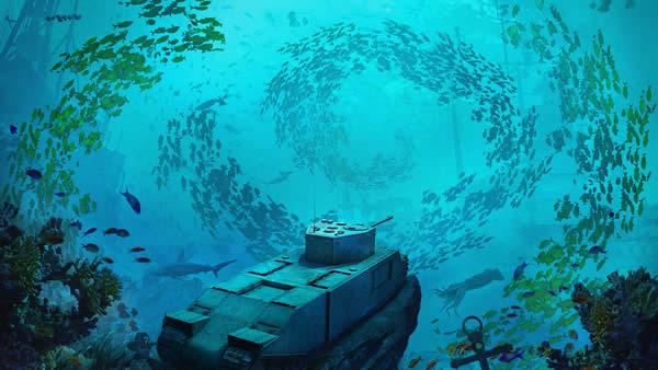 WoT TOG 水の中 魚の群れ