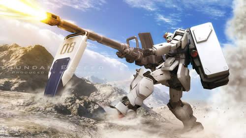 機動戦士ガンダム 第08小隊 陸戦型ガンダム 盾で砲を固定して構える