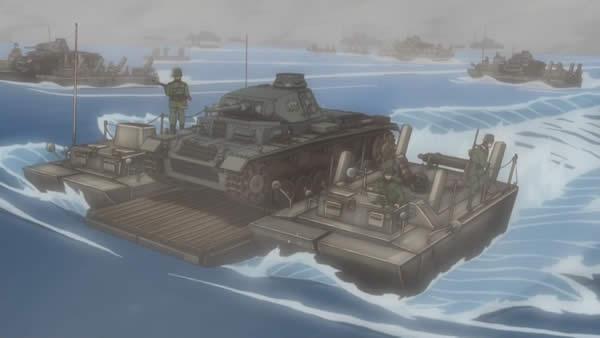 終末のイゼッタ 3号戦車 渡河