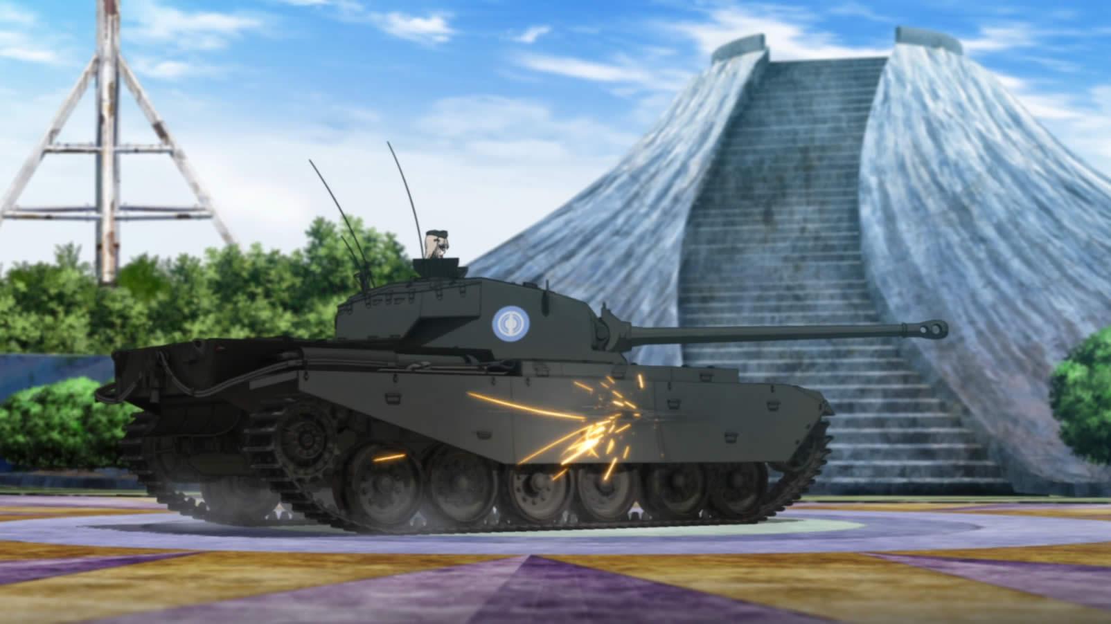 ガールズ&パンツァー センチュリオン 側面装甲で砲弾を弾く