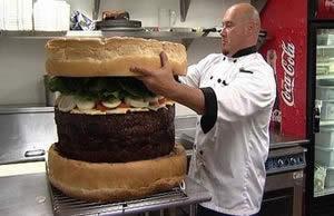 でかいハンバーガー