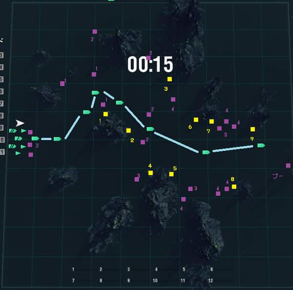 WoWS ハロウィンイベント ルート マップ 01
