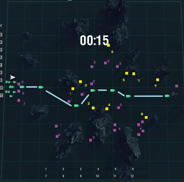 WoWS ハロウィンイベント ルート マップ 02