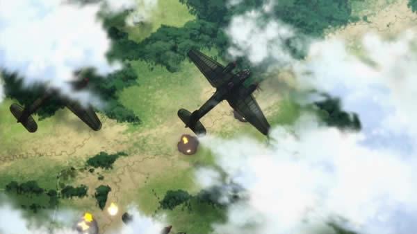 終末のイゼッタ Ju88 塹壕 水平爆撃