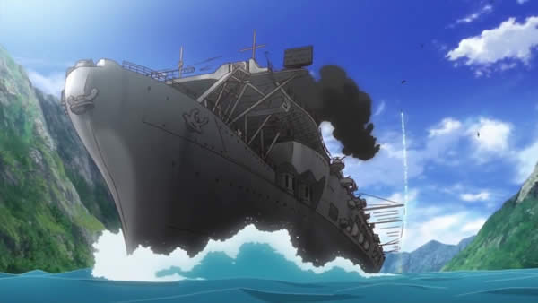 終末のイゼッタ 空母ドラッヘンフェルス  魚雷対艦ミサイル