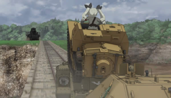 ガールズ&パンツァー カール自走臼砲 こっち見てるぞー アンチョビ CV33