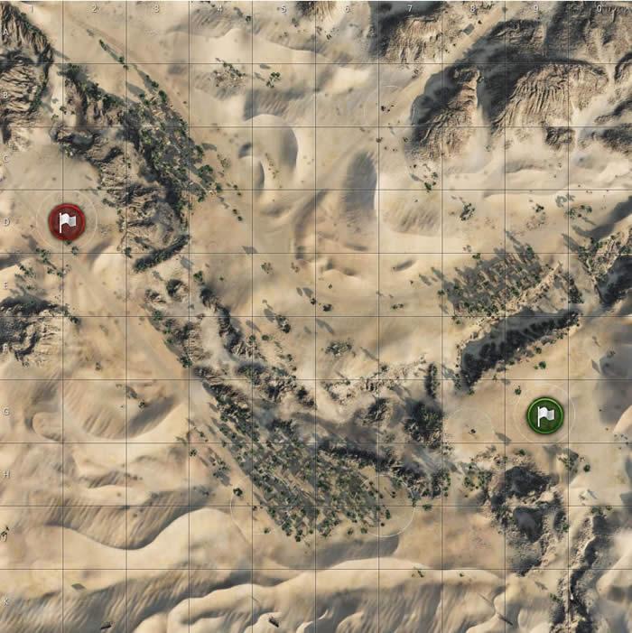 WoT マップ 砂の川