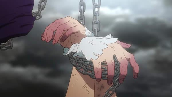 終末のイゼッタ イゼッタ 縛られてうっ血した指
