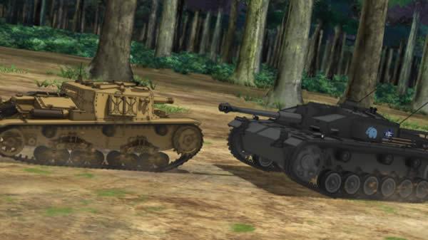 ガールズ&パンツァー 3号突撃砲 対 セモベンテ