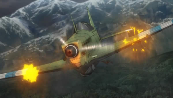 終末のイゼッタ モラーヌ・ソルニエ M.S.406 パイロット 銃撃