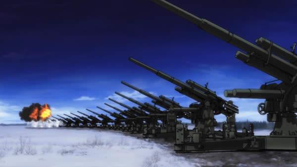 ブレイブウィッチーズ 対空砲 斉射
