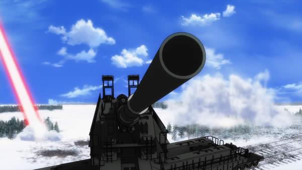 ブレイブウィッチーズ 列車砲 ドーラ 砲塔旋回