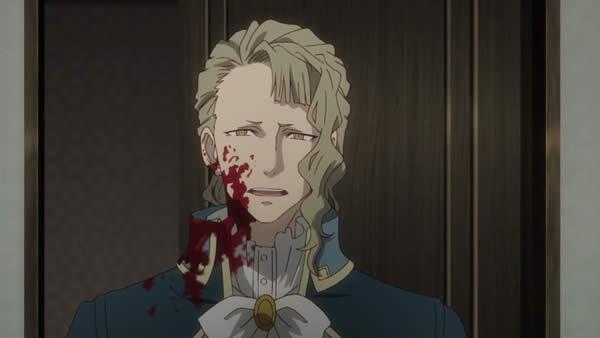 終末のイゼッタ 皇帝オットーの返り血を浴びてるエリオット