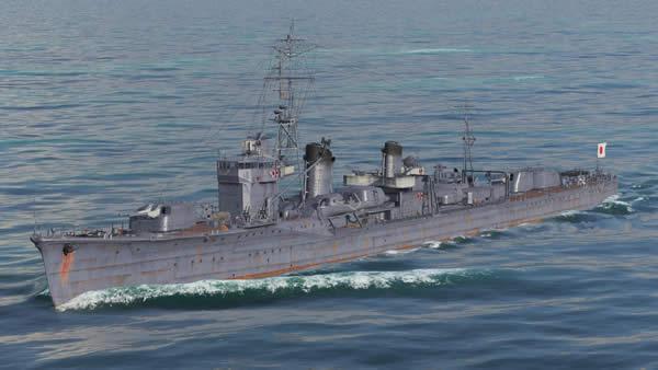 WoWS 白露 日本 Tier7 駆逐艦