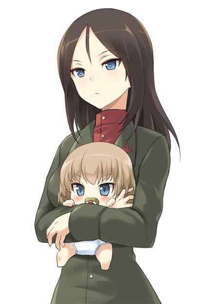 ガールズ&パンツァー カチューシャ 4ヶ月 赤ちゃん ノンナ