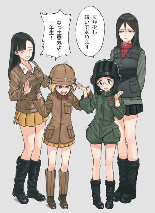 ガールズ&パンツァー カチューシャ 福田 衣装交換 西絹代 ノンナ