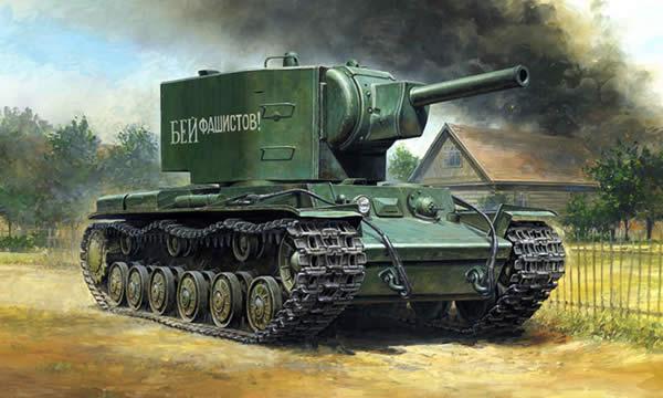 KV-2 プラモデル パッケージ イラスト