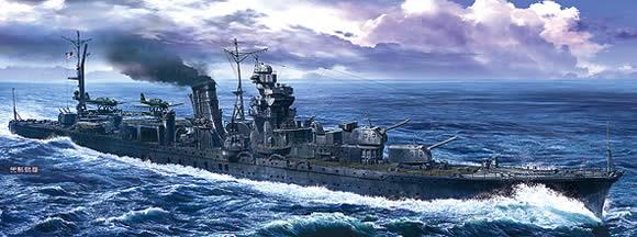 阿賀野 日本 巡洋艦 イラスト