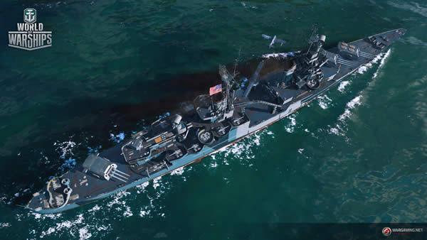 WoWS インディアナポリス Tier7 課金巡洋艦