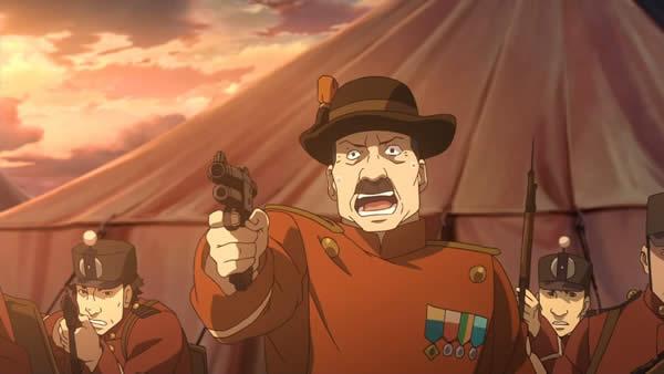 幼女戦記 ダキア軍将校 拳銃を向ける