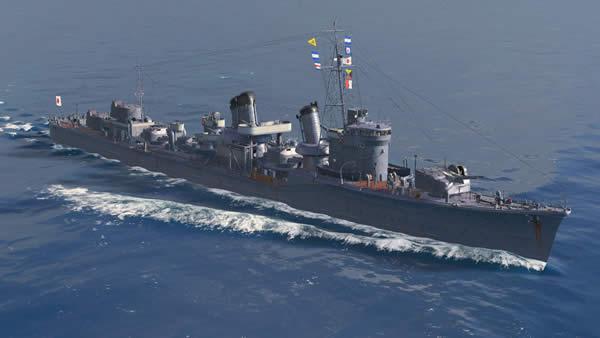 WoWS 暁 日本 Tier7 駆逐艦