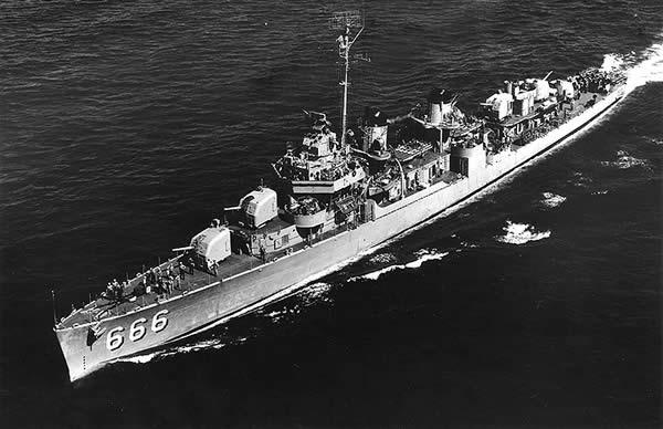 ブラック アメリカ 駆逐艦 DD-666