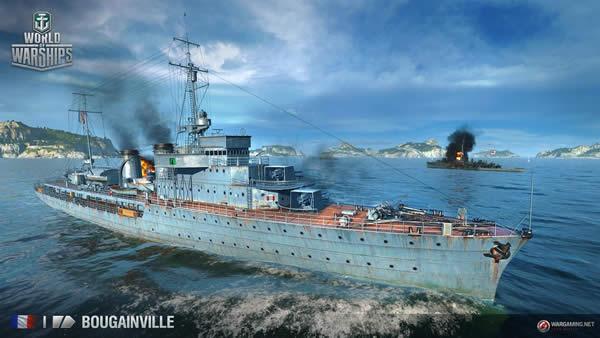 WoWS ブーゲンヴィル級通報艦 Tier1 フランス巡洋艦