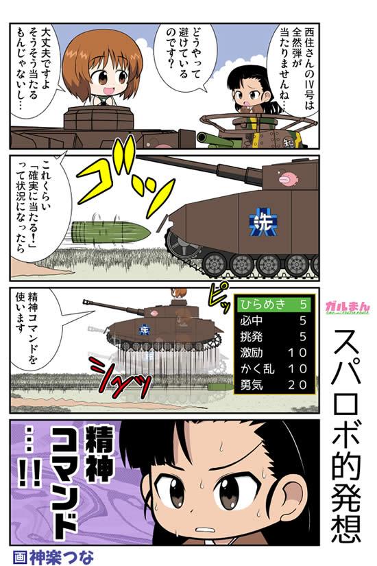 ガールズ&パンツァー スーパーロボット大戦 漫画 西絹代 西住みほ 精神コマンド