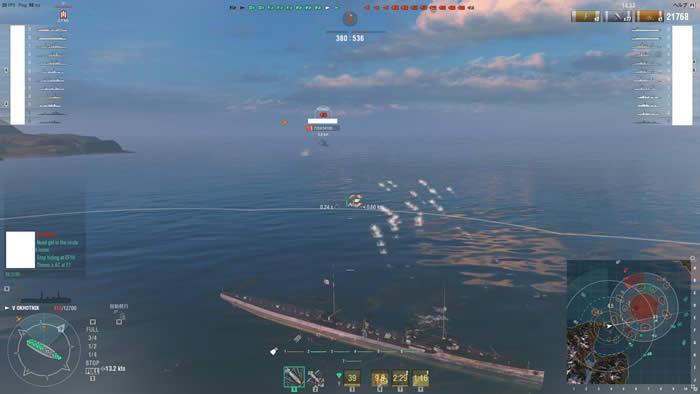 WoWS オホートニク 魚雷発射