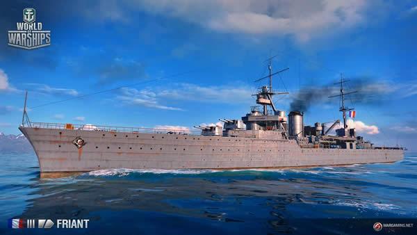 WoWS ジュリアン・ド・ラ・グラヴィエール Tier3 フランス巡洋艦
