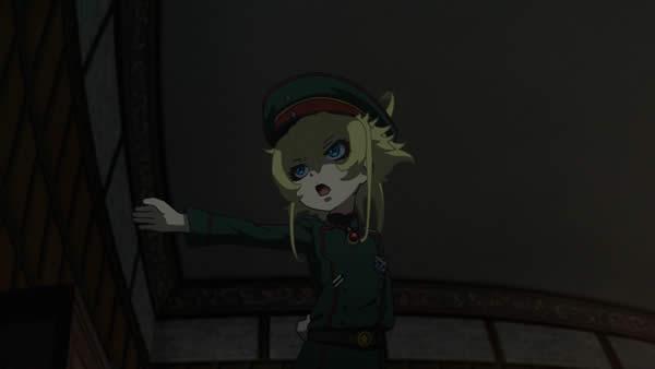 幼女戦記 上官に戯けてみせるターニャ・デグレチャフ