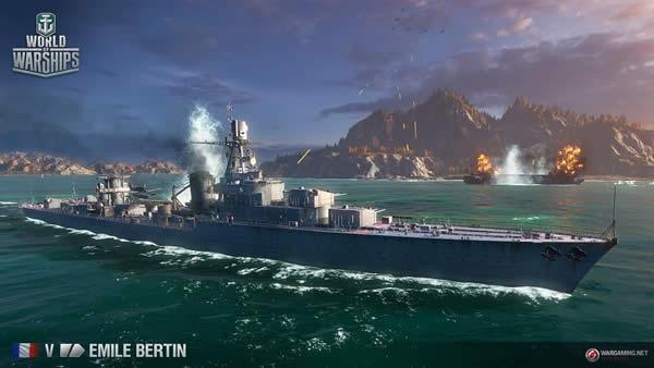 WoWS エミール・ベルタン Tier5 フランス巡洋艦