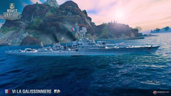 WoWS ラ・ガリソニエール Tier6 フランス巡洋艦