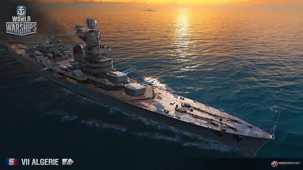 WoWS アルジェリー Tier7 フランス巡洋艦