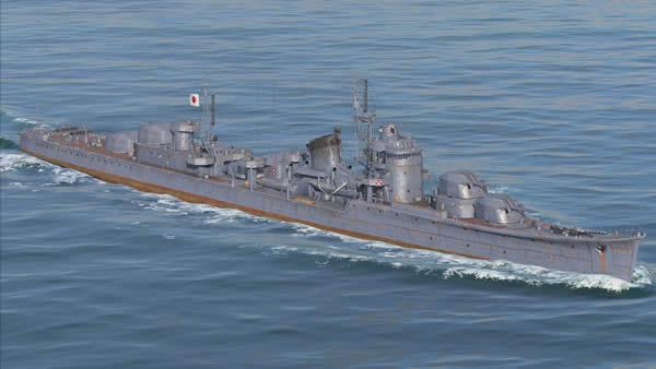 WoWS 秋月 Tier8 日本駆逐艦