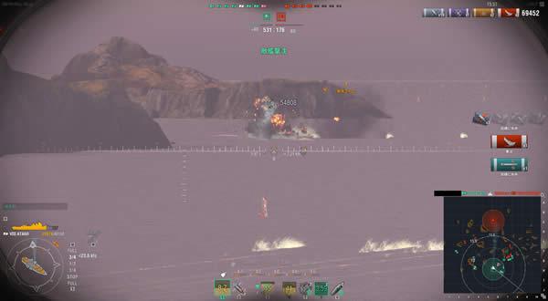 WoWS アラバマ 魚雷直撃 爆沈