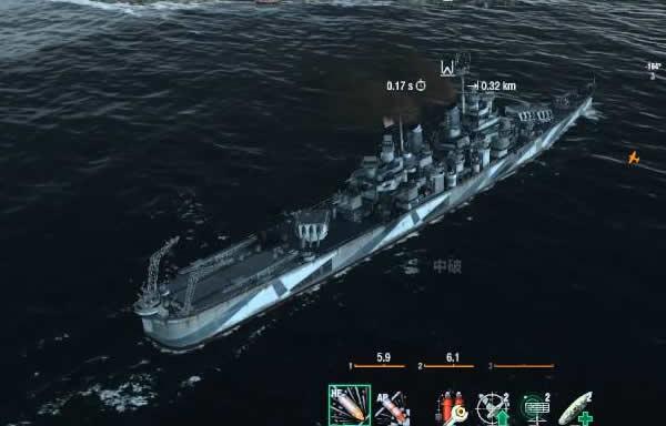 WoWS ボルチモア アメリカ Tier9 巡洋艦 お尻