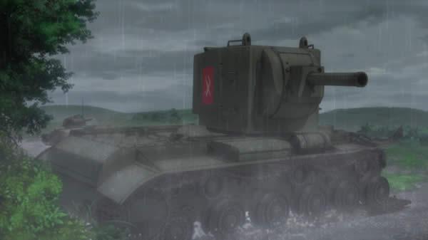 ガールズ&パンツァー 劇場版 道を塞ぐ KV-2 履帯破損
