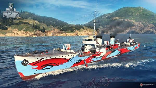 WoWS 神風R イベント 迷彩 Tier5 日本 駆逐艦