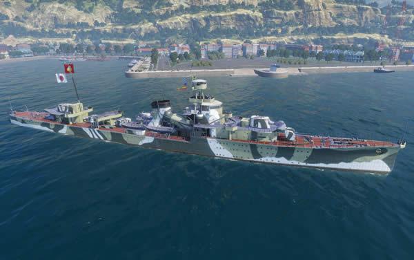 WoWS 夕張 日本 Tier4 課金巡洋艦