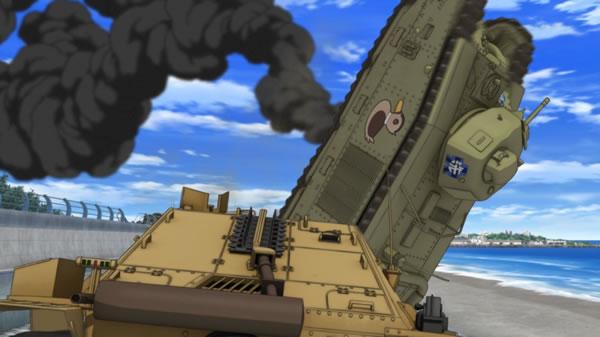 ガールズ&パンツァー 劇場版 B1 重戦車 カモさんチーム 横転